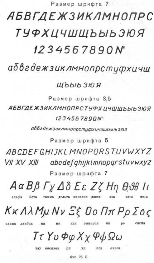 Размер шрифта 7